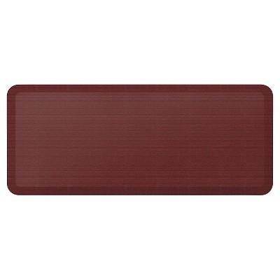 Newlife By Gelpro Designer Comfort Kitchen Mat - Grasscloth Crimson - 20X48