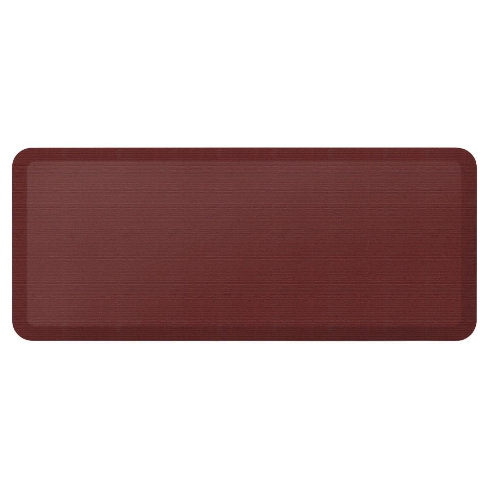"Image of ""Newlife By Gelpro Designer Comfort Kitchen Mat - Grasscloth Crimson - 20X48"""", Red"""