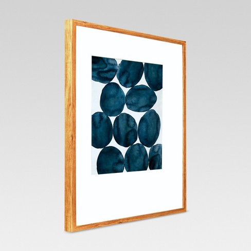 Framed Watercolor Abstract Blue 22\
