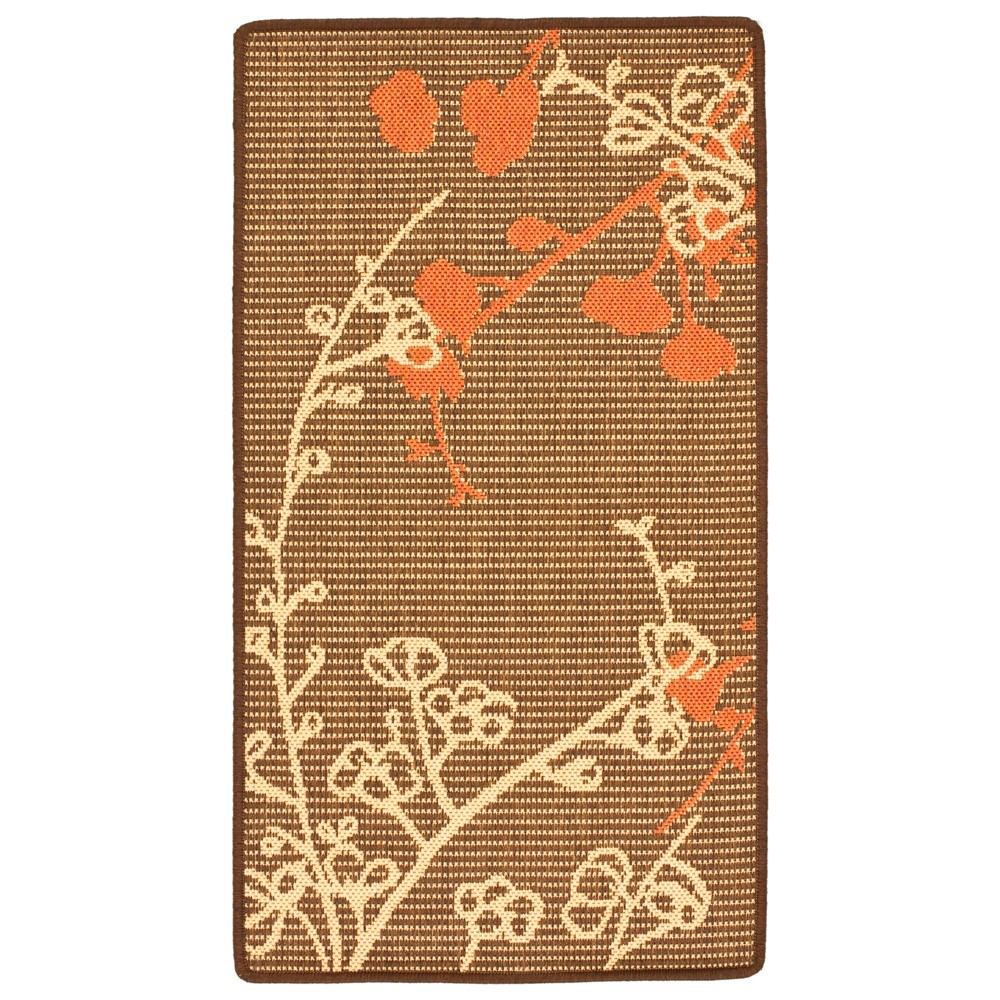 x 3'7in Maidstone Outdoor Rug Brown Natural/Terracotta