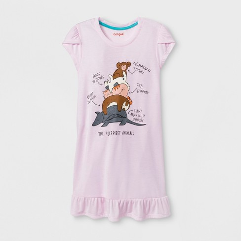Girls' Animals Nightgown - Cat & Jack™ Pink - image 1 of 1