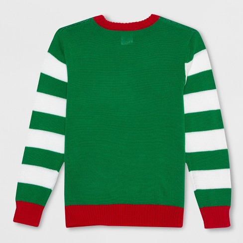 6510f267e27 Well Worn Boys  Oh Snap Gingerbread Ugly Christmas Sweater - Green L    Target