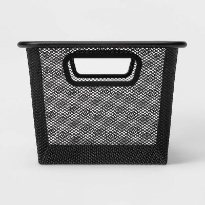 """9""""x13""""x6.25"""" Metal Shoe Bin Black - Made By Design™"""