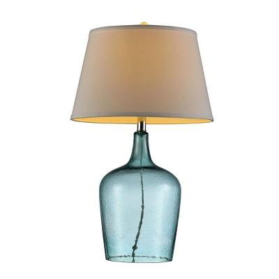 "OK Lighting 27""H Ocean Breeze Glass Table Lamp"