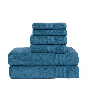 6pc Modern Home Trends Bath Towel Set Teal - Loft