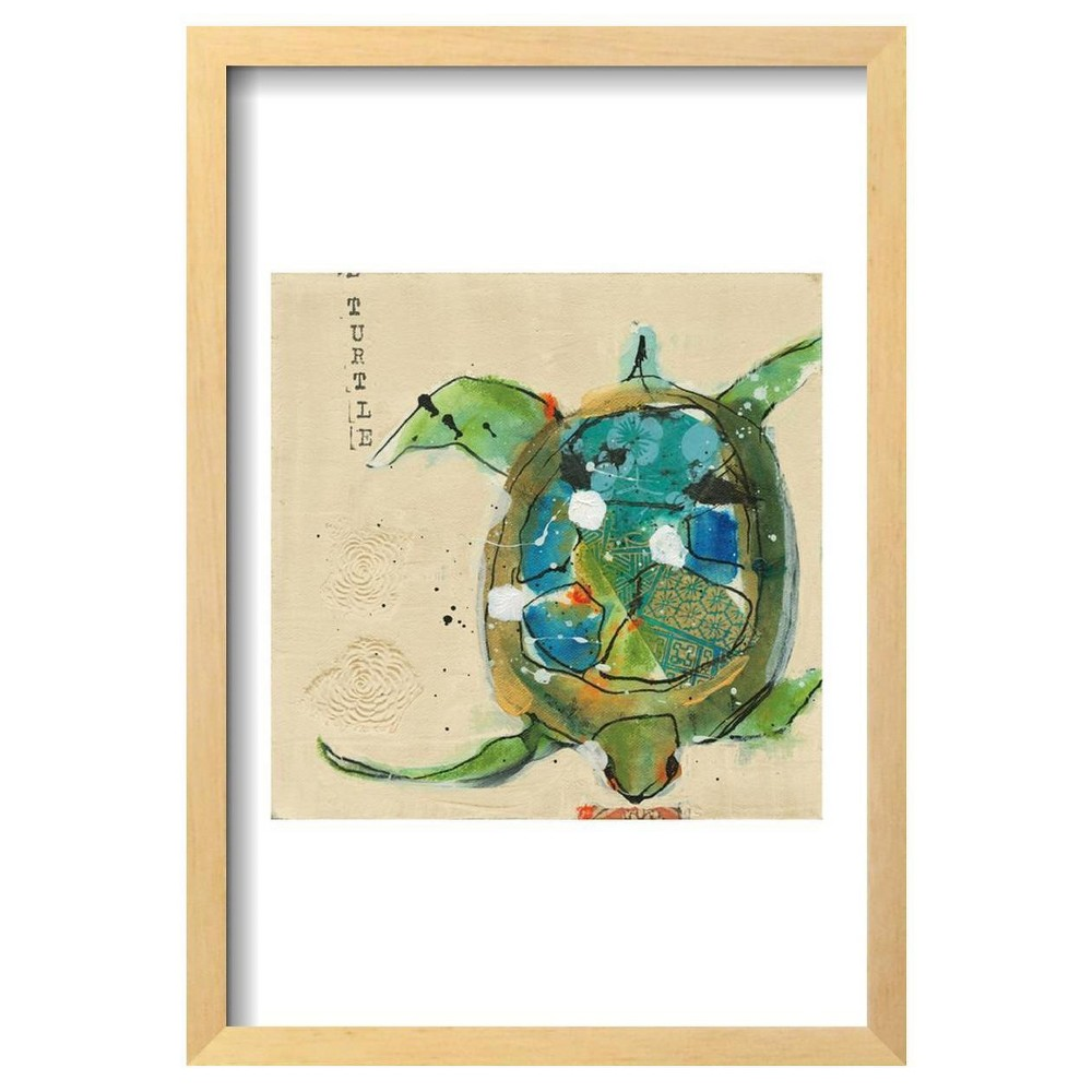 Chentes Turtle Light By Kellie Day Framed Poster 13