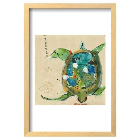 "Chentes Turtle Light By Kellie Day Framed Poster 13""X19"" - Art.Com - image 1 of 4"