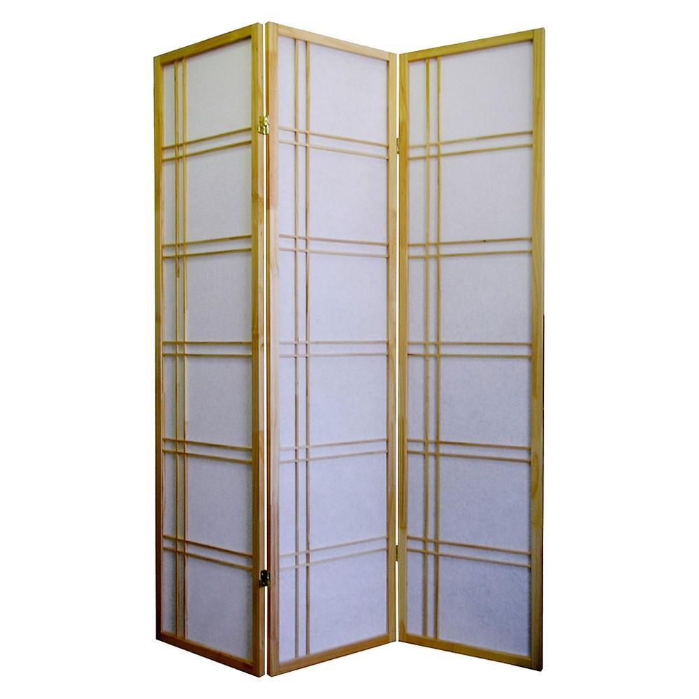 3 Panel Room Divider Neutral - Ore International