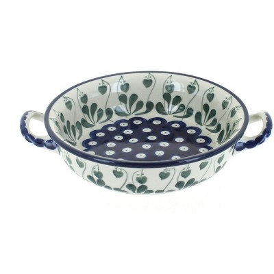 Blue Rose Polish Pottery Alyce Mini Casserole Dish with Handles