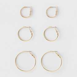 Hoop Earring Set 3ct - A New Day™