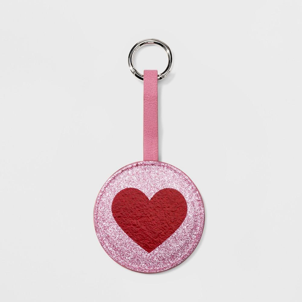 Women's Heart Mirror Keychain - Wild Fable Pink