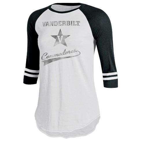 NCAA Vanderbilt Commodores Women's Retro Tailgate White/3/4 Sleeve T-Shirt - M - image 1 of 1