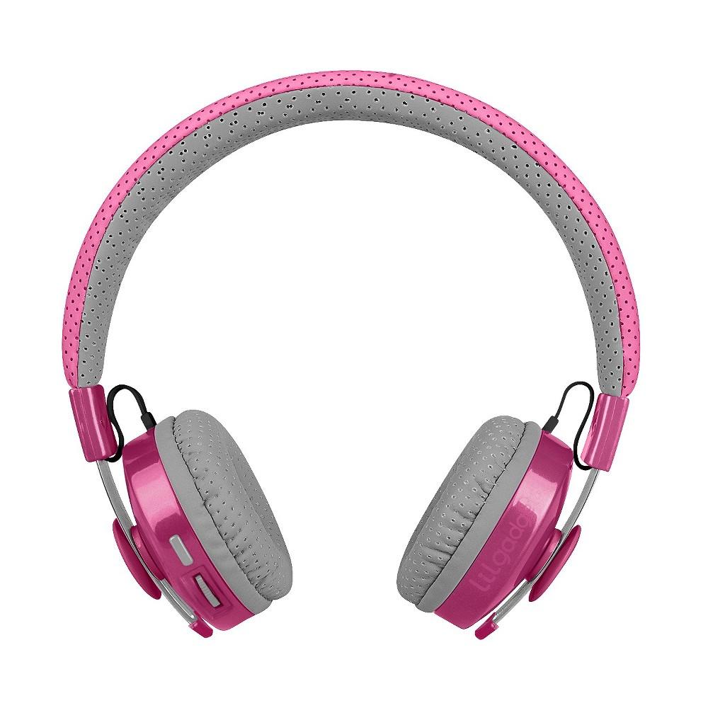 LilGadgets Untangled Pro Premium Kids Wireless Bluetooth Headphones with SharePort - Pink