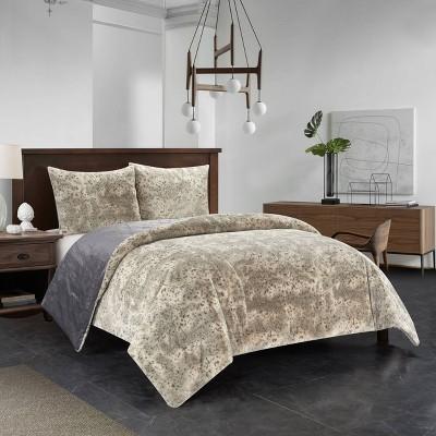 Dearfoams Holburn Plush Comforter Set with Sherpa Reverse