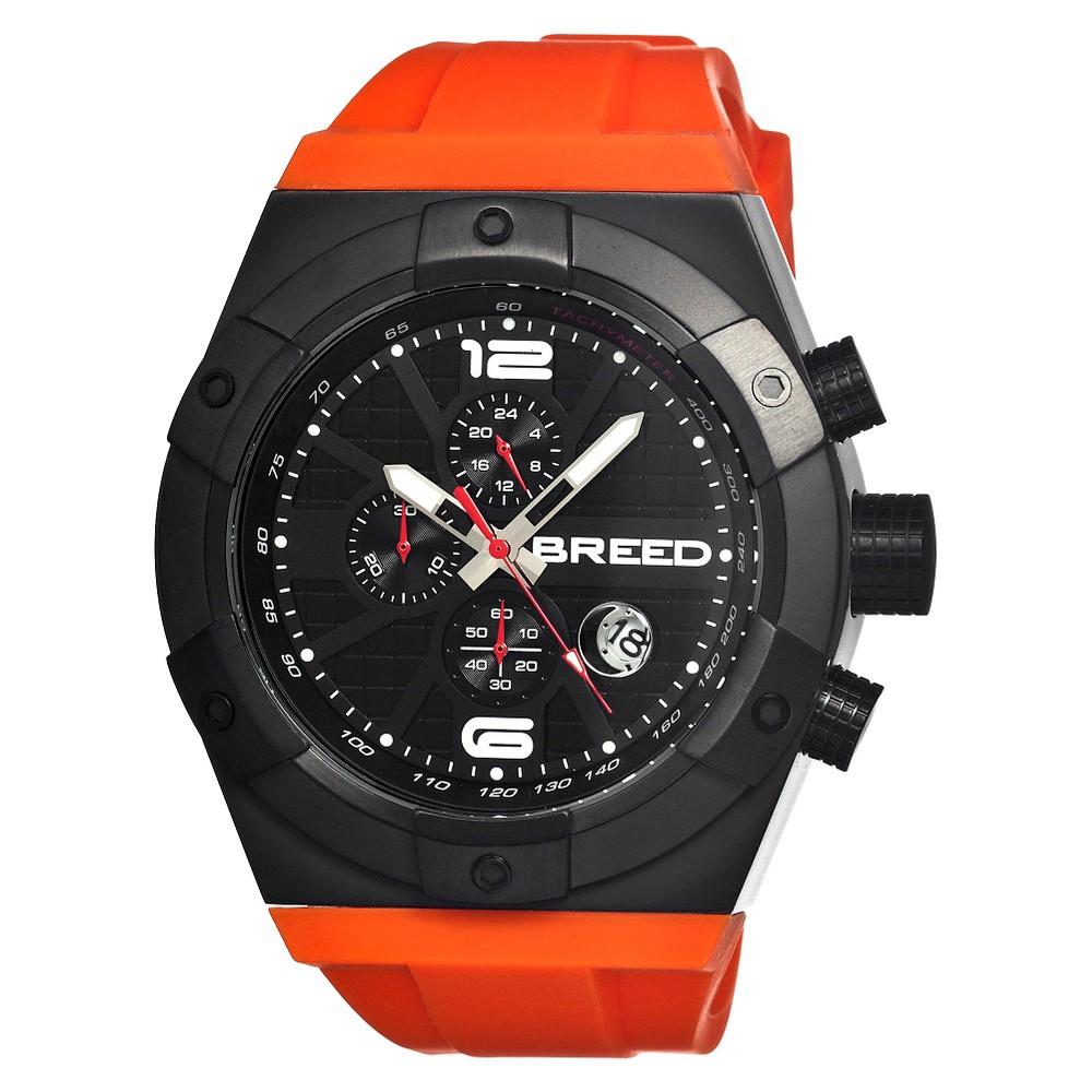 Men's Breed Titan Watch with Full Function Chronograph - Orange/Black