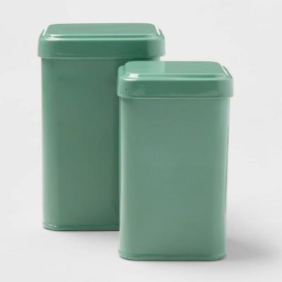 2pk Storage Tins Crisp Green - Room Essentials™
