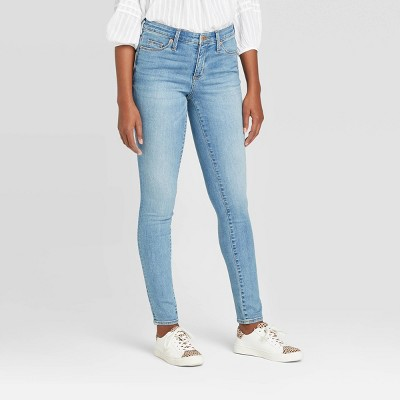 Women's High-Rise Button-Fly Skinny Jeans - Universal Thread™ Medium Wash