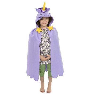 Magic Cabin - Unicorn Cloak for Kids Dress Up Imaginative Play, Purple
