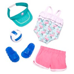 "Our Generation Regular Volleyball Outfit for 18"" Dolls - Ace Attire"