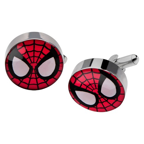 Men's Marvel® Spider-Man Face Stainless Steel Cufflinks - image 1 of 1