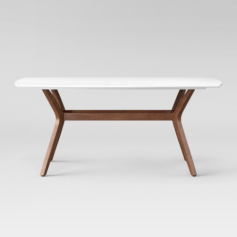 "Emmond Mid Century 72"" Dining Table White & Brown - Project 62™ - image 1 of 4"