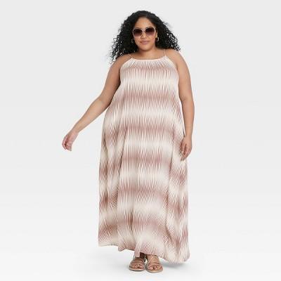 Women's Sleeveless Linen Dress - A New Day™