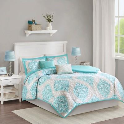 Chelsea Comforter Set (King/California King)5pc - Aqua