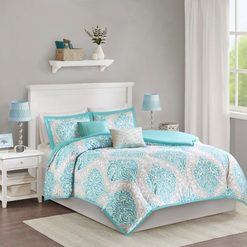 Chelsea Damask Print Duvet Cover Set - image 1 of 8