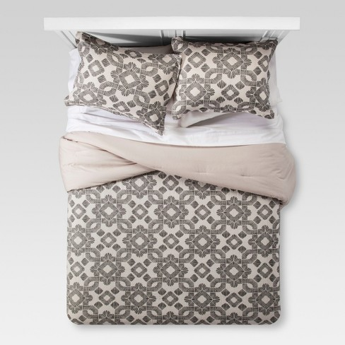 Brown & White Natural Global Medallion Comforter Set - Threshold™ - image 1 of 3