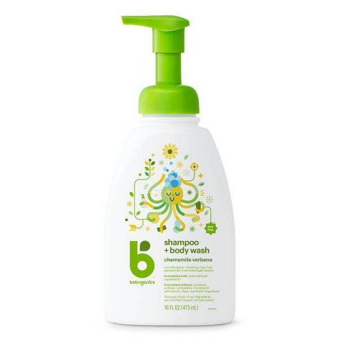 Babyganics Baby Shampoo + Body Wash Pump Bottle - 16 fl oz - image 1 of 4