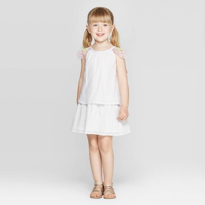 Toddler Girls' 'Wing' A-Line Dress - Cat & Jack™ White 12M