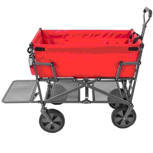 Mac Sports Heavy Duty Steel Double Decker Collapsible Yard Cart Wagon 9401cca37c