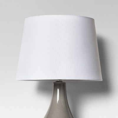 Target & Linen Drum Lamp Shade White - Threshold™