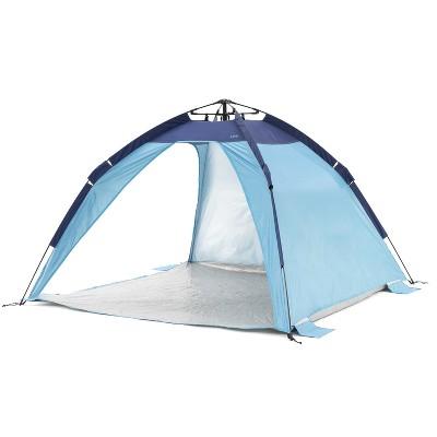 SlumberTrek 3049332VMI Mersa Universal Outdoor Compact Pop Up Auto Ezee Beach Sun Shelter Tent, Blue