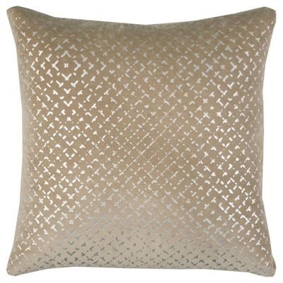 Rizzy Home Geometric Throw Pillow Beige