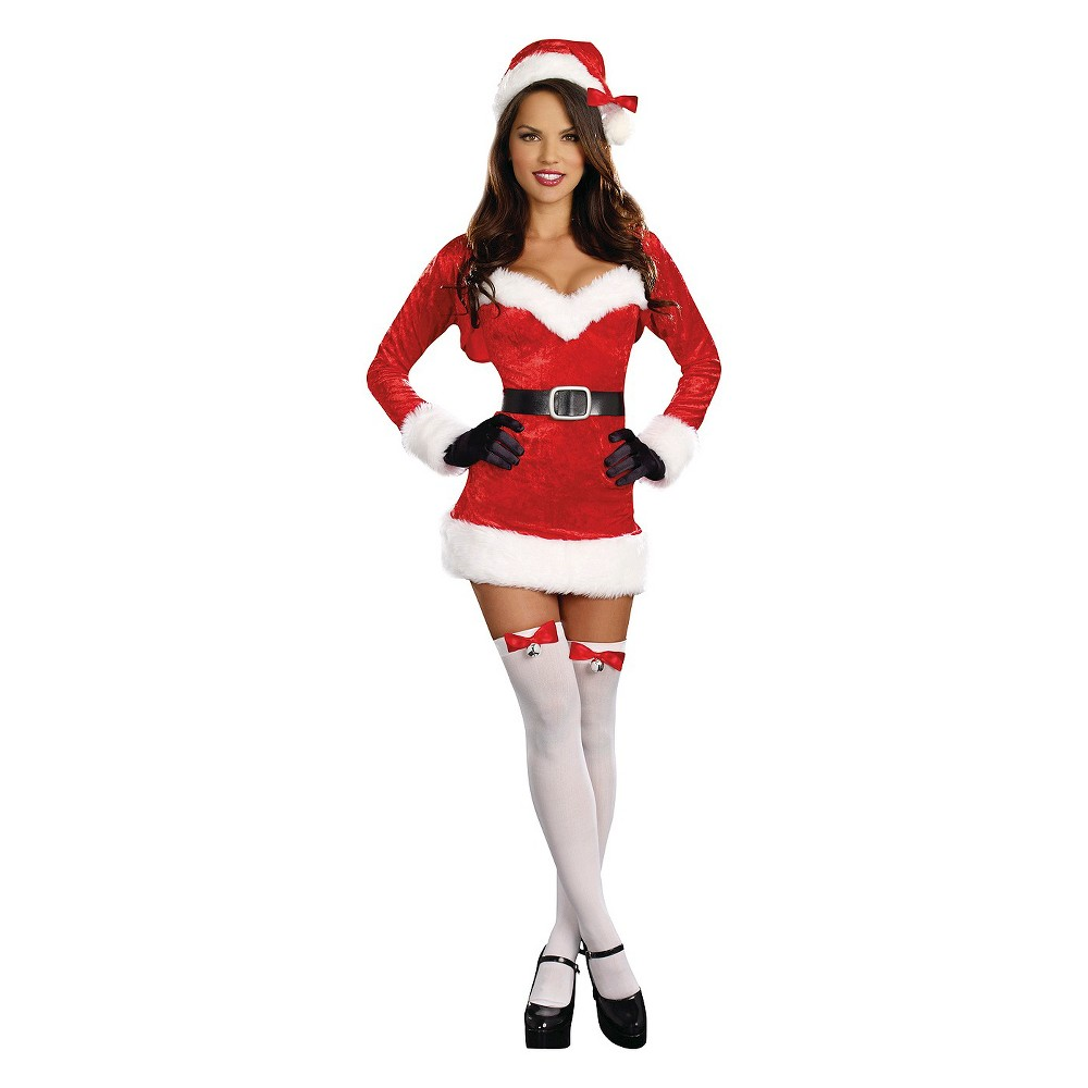 Image of Halloween Women's Santa Baby Costume - Large, Red