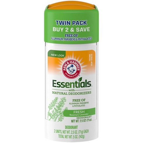 Arm & Hammer Essentials Solid Deodorant Fresh Wide Stick Twin Pack - 2.5oz/2pk - image 1 of 4