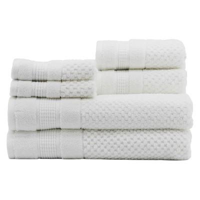 6pc Pebble White Bath Towels Sets - Caro Home