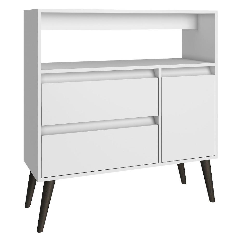Gota High Side Table White - Manhattan Comfort