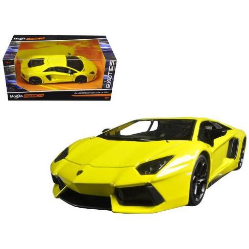Lamborghini Aventador Lp 700 4 Yellow Exotics 1 24 Diecast Model