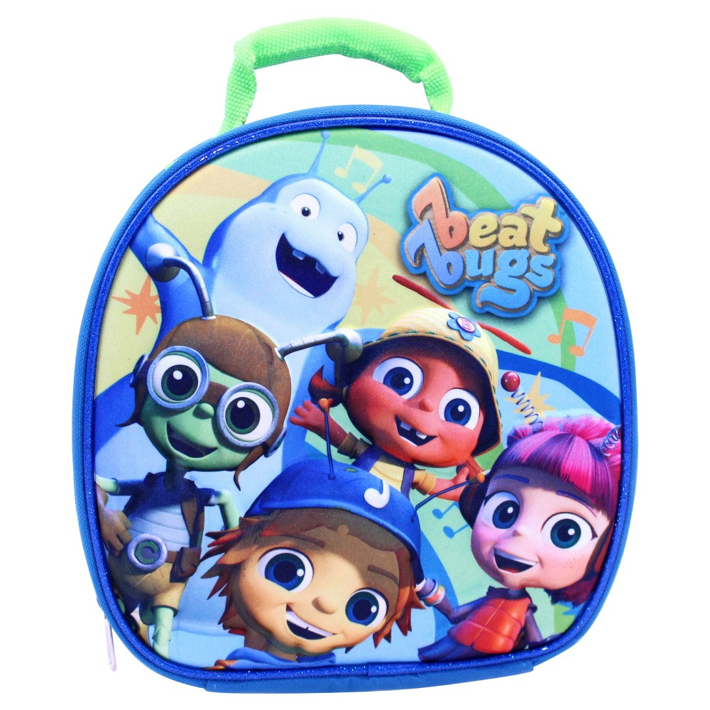 Image of Beat Bugs 9 Lunch Bag with Hands Free Clip & Allergy Window, Multi-Colored