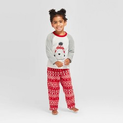 "Toddler Holiday ""Lil"" Bear Pajama Set - Wondershop™ Gray"