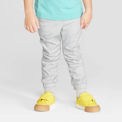 Toddler Boys' Stretch Twill Front Jogger Pants - Cat & Jack™ Gray 12M
