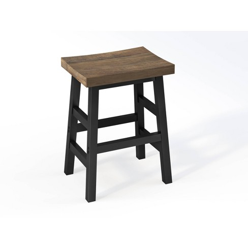 26 Pomona Reclaimed Wood Counter Height Barstool With Metal Legs Brown Alaterre Furniture Target