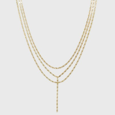 SUGARFIX by BaubleBar Layered Y-Chain Necklace