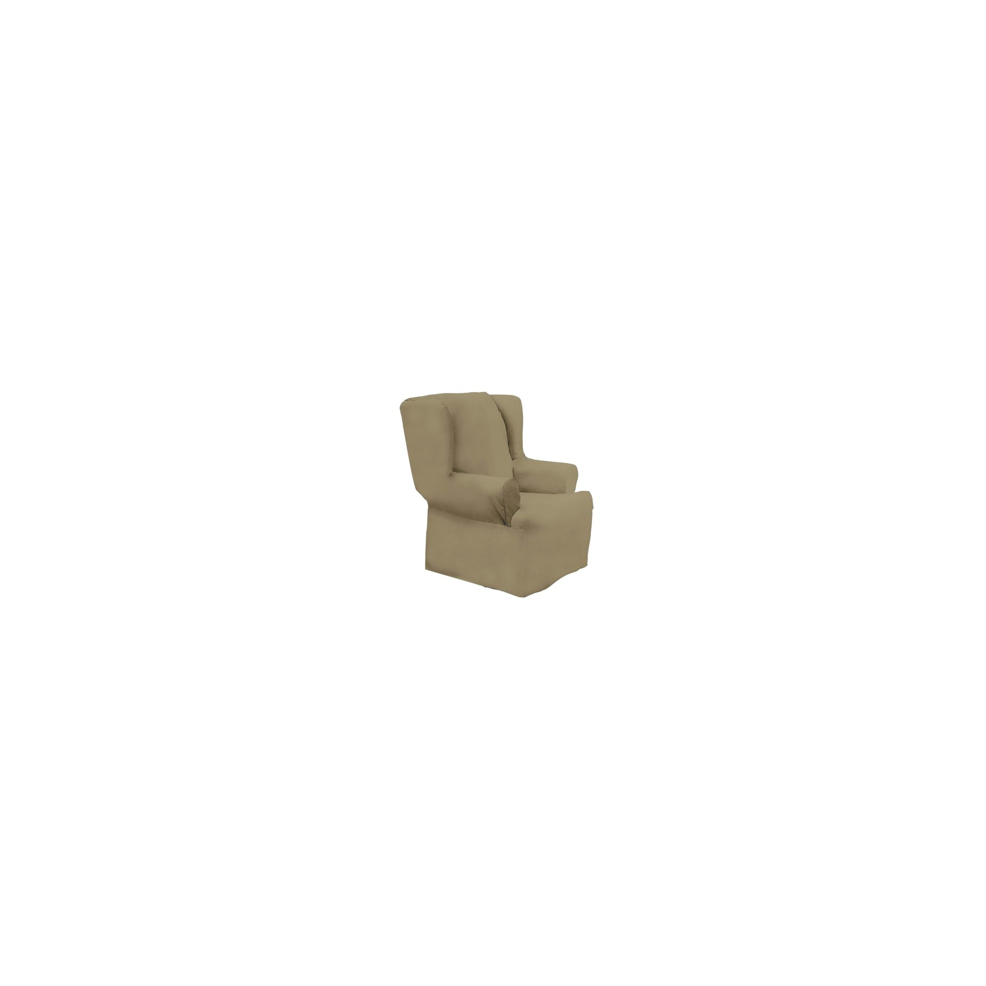Cotton Duck Wing Chair Slipcover Linen - Sure Fit