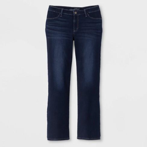 Women's Plus Size Adaptive Bootcut Jeans - Universal Thread™ Dark Wash - image 1 of 3