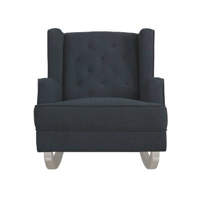 Evolur Capri Upholstered Tufted Wingback 2-in-1 Rocker & Accent Chair