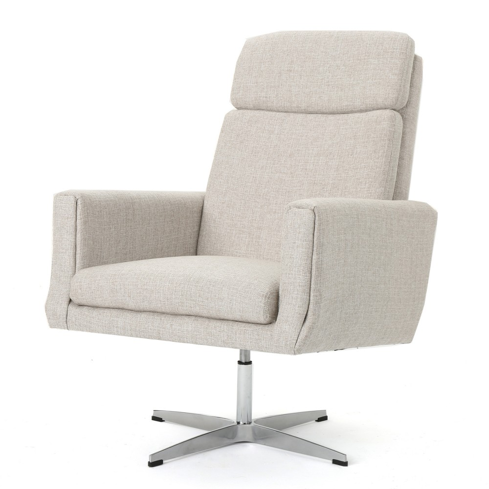Horatia Modern Swivel Accent Chair Beige - Christopher Knight Home