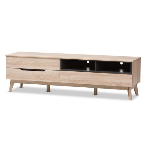 Fella Mid - Century Modern Two - Tone Wood TV Stand - Brown - Baxton Studio - image 1 of 7
